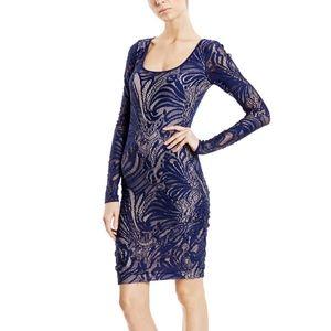 BCBGMaxAzria long sleeve lace dress S